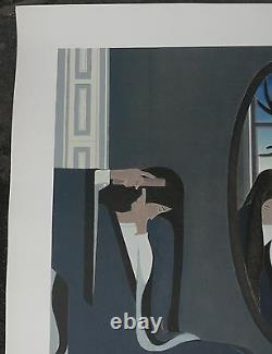 Lithographie Originale WILL BARNET(1911-2012) Femme Coiffure Miroir Signé 25ex