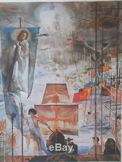 Lithographie Salvador Dali La Découverte des Amériques , signée et numérotée