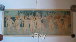 Lithographie les amours de PRIVAT LIVEMONT ART NOUVEAU 1903