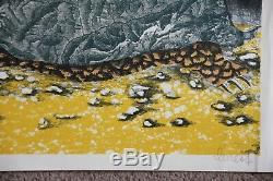 Lithographie lithograph Jean LURCAT signée épr d'essai nid la tortue tapisserie