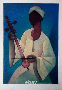 Louis TOFFOLI Le Nubien Lithographie originale signée 1977