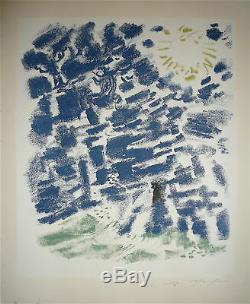 MASSON André Lithographie originale signée 1960 surréalisme Aix