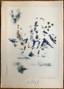 MASSON André Lithographie originale signée 1960 surréalisme art abstrait