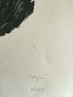 MIRO Joan RARE original lithograph HAND SIGNED numbered authentic