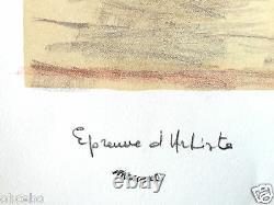 Marquet Albert Exceptionnelle Et Belle Lithographie Originale Signee Et Rare