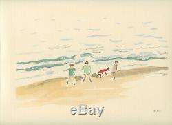 Marquet Albert Rare Lithographie 1947 Non Signée Num/100 Handnumbered Lithograph