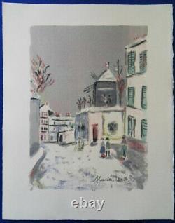Maurice UTRILLO Le Lapin Agile LITHOGRAPHIE ORIGINALE SIGNEE MOURLOT PARIS