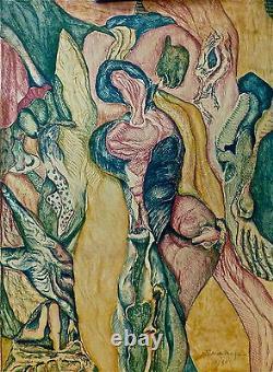 Max Schoendorff lithographie signée Peintre facteur de décors Paris Lyon p1191