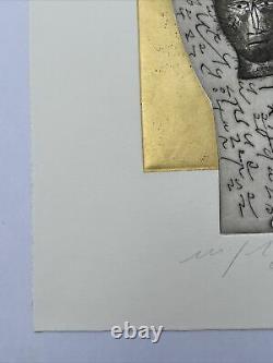 Mimmo Paladino, Litho signée main 56/100, 35x50cm, Art contemporain, Bon État