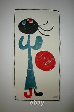 Miro Joan Lithographie sur velin signée art abstrait surréaliste abstraction