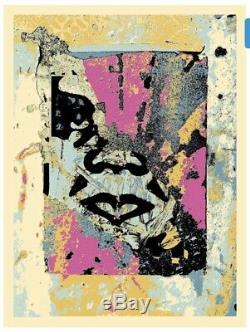 OBEY shepard fairey signed ENHANCED Disintegration (PINK) Limited Édition GIANT