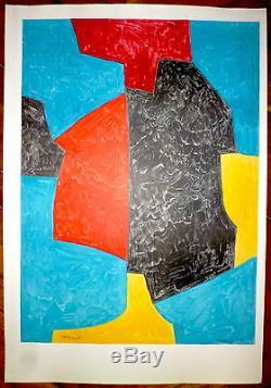 POLIAKOFF Serge Lithographie Sorlier Mourlot Art Abstrait école de Paris