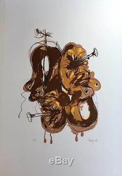 Paul Rebeyrolle Lithographie originale signée art abstrait abstraction