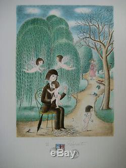 Peynet Raymond Lithographie Signée Au Crayon Numéroté Handsigned Numb Lithograph