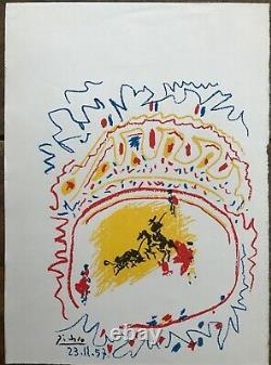 Picasso Lithographie La Petite Corrida Mourlot Rare Original Lithograph 1957