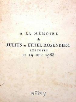 Picasso Pablo A La Memoire De Julius Et Ethel Rosenberg Litho Signee Et N°