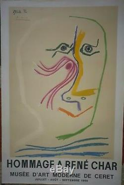 Picassorene Char Affichelithographieoriginalesignée1964moulotartmuseum