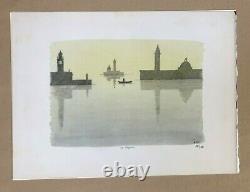 Pierre Le Tan Venezia Original Lithograph Rives paper Numbered Signed plate