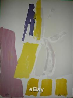 Pierre Pallut Lithographie signée 1972 Art Abstrait Abstraction Lyrique