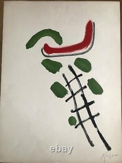 Pierre TAL COAT Lithographie Originale Signée au Crayon Abstrait Ecole Paris
