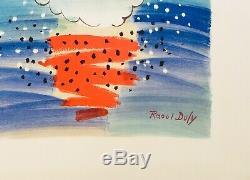 Raoul DUFY Trouville 1950 Lithographie originale signée et numérotée