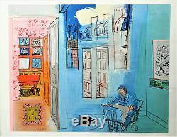 Raoul Dufy. Lithographie. L'atelier de l'impasse Guelma. Pv229 d