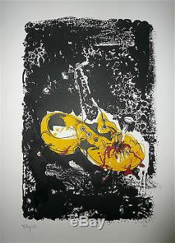 Rebeyrolle Paul Lithographie originale signée Art Abstrait Abstraction Eymoutier