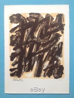 Robert HELMAN (1910-1990) Lithographie Signée 1965 Pierre Hans Hartung Soulages