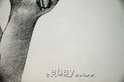Roland DELCOL- Lithographie originale signée- Emmanuelle laughing