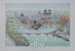 Rolf RAFFLEWSKI Paris Vue de Notre Dame LITHOGRAPHIE originale signée #25ex