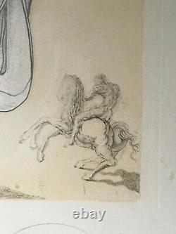 Salvador DALI 1904-1989 Hommage du Général De Gaulle Lithographie signée