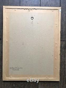 Salvador Dali Lithographie Originale Signée Soleil Et Lune Tournesol Surréalisme