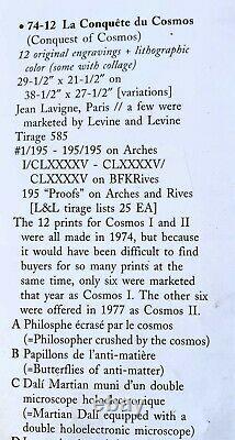 Salvadordalioriginalegravureconquetecosmos1974signée Lavignerarevintage