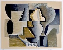 Serge Charchoune. Composition Abstraite. Lithographie Signée & N°. Circa 1970