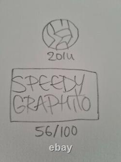 Speedy Graphito Lithographie Signée Datée 25x20cm no jonone c215 cope2 seen