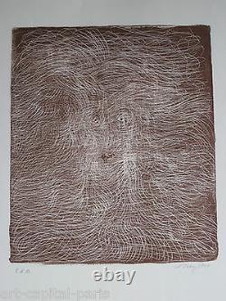 Tobey Mark Lithographie 1970 Signée Au Crayon Eda Handsigned Numb Eda Lithograph