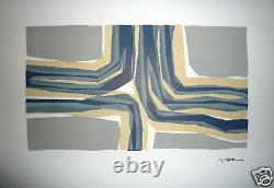 Ubac Raoul Lithographie origianle sur velin Art Abstrait Abstraction Belgique