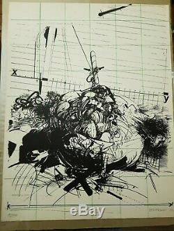 VELICKOVIC LITHOGRAPHIE 700x535 1/100 SIGNATURE 1970 BE