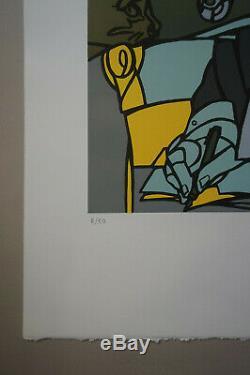 Valerio ADAMI Derrida lithographie originale signée et numérotée