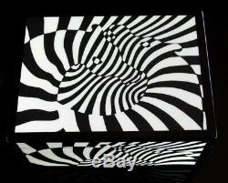Vasarely Zèbres boîte bois laqué Op Art 70 Cinétique Optique Lithographie Design