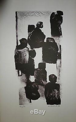 WITOLD K Lithographie signée et numérotée 1966 art abstrait abstraction Pologne