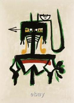 Wifredo LAM Joan Prats, lithographie signée au crayon, 1976
