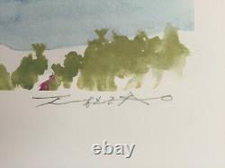 ZAO Wou-Ki Ibiza, lithographie signée, 2007